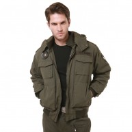 Military Operator Airborne Hoodie Jacket - OD Green