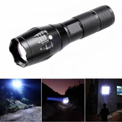 Zoomable XML-L2 Tactical Flashlight *FREE* Rechargeable Battery + Charger