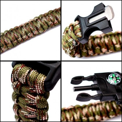 5 in 1 Multifunction Emergency Survival Paracord Bracelet