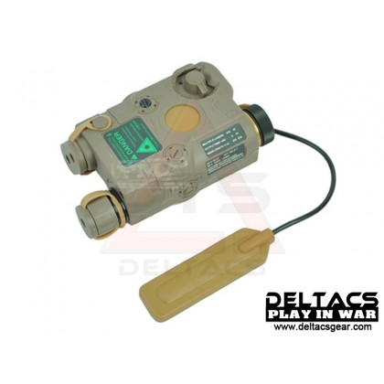 FMA AN/PEQ 15 Green Laser and Flashlight Aiming Device - Dark Earth