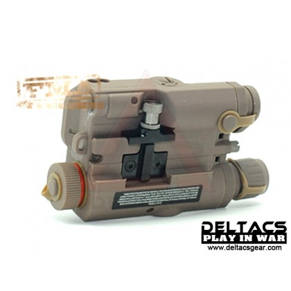 FMA AN/PEQ 15 Green Laser Battery Case - Dark Earth